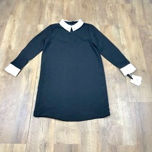 Victoria Beckham Target Black Collar Rabbit Dress